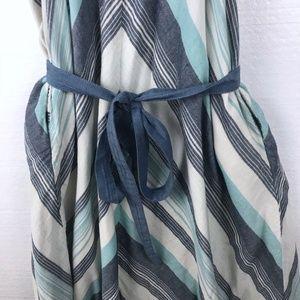 Lands' End Dresses - Lands End Canvas Sz 6 Striped Halter Pockets Dress